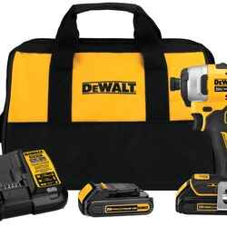 DEWALT - ATOMIC 20V MAX Brushless Cordless Compact 14 in Impact Driver Kit Two Battery Kit - DCF809C2