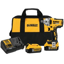 DEWALT - 20V MAX XR 12 in MidRange Cordless Impact Wrench with Detent Pin Anvil Kit - DCF894P2