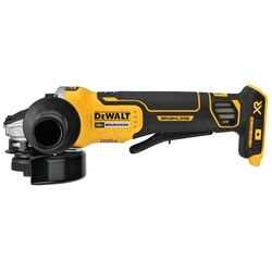 DEWALT - 20V MAX XR 45 in Paddle Switch Small Angle Grinder with Kickback Brake Tool Only - DCG413B