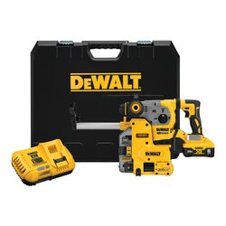 DEWALT - 20V MAX XR Brushless 118 in LShape SDS PLUS Rotary Hammer Kit with On Board Extractor - DCH293R2DH