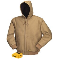 DEWALT - 20V12V MAX Lithium Ion Khaki Hooded Heated Jacket Jacket and Adaptor Only - DCHJ064B