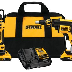 DEWALT - 20V MAX Brushless Drywall Screwgun  CutOut Tool Combo Kit 20ah - DCK263D2