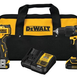 DEWALT - ATOMIC 20V MAX Brushless Cordless 12 in Hammer DrillDriver and 14 in Impact Driver KIT - DCK279C2