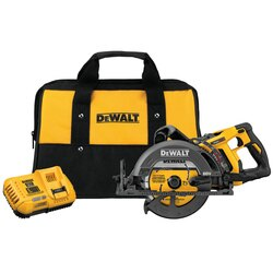 DEWALT - FLEXVOLT 60V MAX 714 in Cordless Worm Drive Style Saw 60Ah Battery Kit - DCS577T1