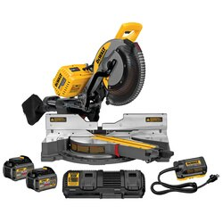 DEWALT - FLEXVOLT  120V MAX 12 in Cordless DOUBLE BEVEL COMPOUND SLIDING MITER SAW kit 2 BATTERies - DHS790AT2