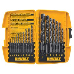 DEWALT - 17Pc Black Oxide Drill Bit Set - DW1167