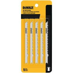 DEWALT - 4 6 TPI U Shank Fast Cutting Wood Cutting Cobalt Steel Jig Saw Blade - DW3700-5