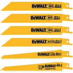 DEWALT - 6 Piece BiMetal Reciprocating Saw Blade Set - DW4856