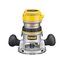 DEWALT - 214 HP maximum motor HP EVS Fixed Base Router with Soft Start - DW618