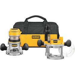 DEWALT - 214 HP max motor HP EVS Fixed Base  Plunge Router Combo Kit w  Soft Start - DW618PKB