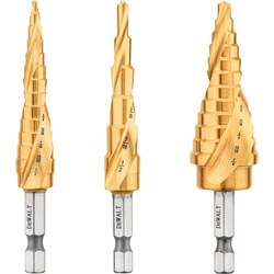 DEWALT - 3Pc IMPACT READY Step Drill Bit Set - DWA1790IR