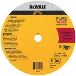 DEWALT - FLEXVOLT Ceramic Metal Cutoff Wheel Type 1 - DWAFV8918