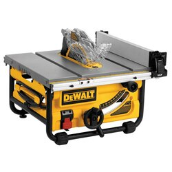 DEWALT - 10 Compact Job Site Table Saw with SitePro Modular Guarding System - DWE7480