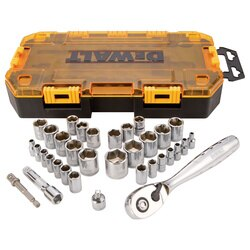 DEWALT - 34 pc 14 in and 38 in Drive Socket Set - DWMT73804
