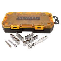 DEWALT - 25 Piece 14 in Drive Socket Set - DWMT73805