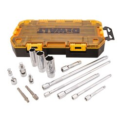 DEWALT - 15 Piece 14 in  38 in Drive Tool Accessory Set - DWMT73807