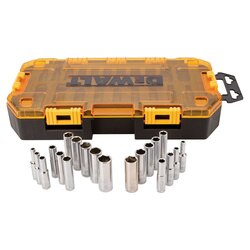 DEWALT - 20 Piece 14 in Drive Deep Combination Socket Set - DWMT73811