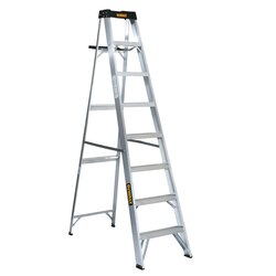 DEWALT - 8ft Aluminum 250lb Type I Step Ladder - DXL2110-08