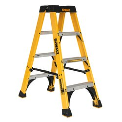 DEWALT - DEWALT 4 Fiberglass Twin Step Ladder 300 lbs Load Capacity - DXL3030-04