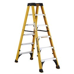 DEWALT - 6 ft Fiberglass Twin Front Step Ladder - DXL3030-06