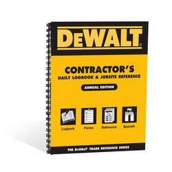 DEWALT - DEWALT Contractors Daily Logbook and Jobsite Reference - DXRG55993