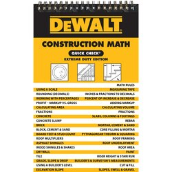 DEWALT - Construction Math Quick Check - DXRG57857