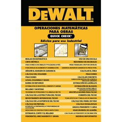 DEWALT - Construction Math Quick Check Extreme Duty Edition in Spanish - DXRG58193