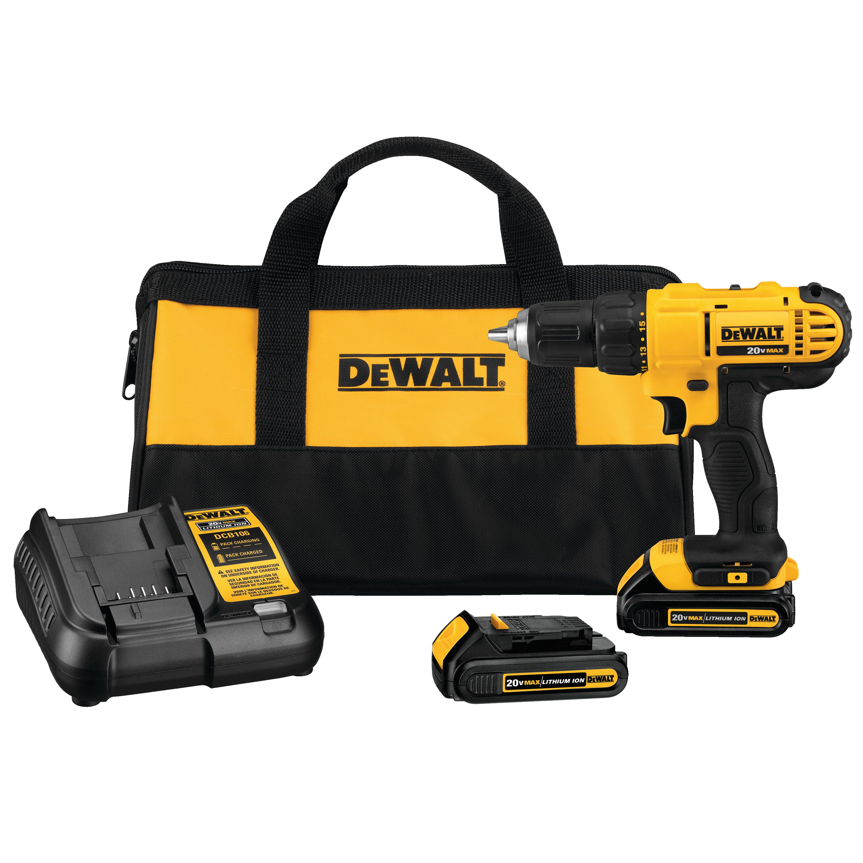 DEWALT - Ensemble de perceusevisseuse compact au lithiumion XR 20V MAX - DCD771C2